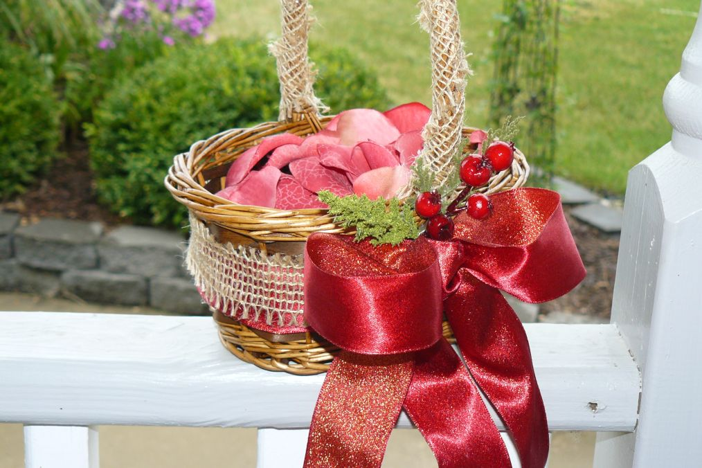Red Berry Flower Basket